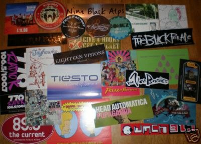 25 Diff PROMO STICKERS-Raconteurs,Muse,Hellogoodbye+++4