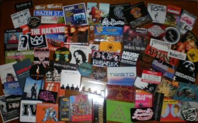 75 PROMO STICKERS+CD's+PINS+Muse,Ramones,Noisettes++++2