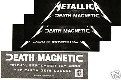 METALLICA Death Magnetic 4 PROMO STICKERS for cd MINT!