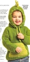 X774 Crochet PATTERN ONLY Dinosaur Hoodie Sweater Jacket Pattern - $10.50