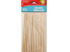 """Greenbriar International Crafter's Square Wood Dowels 6"""", 15 Count #237604"""