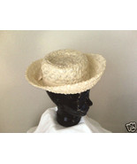 Straw Weave Hat w/turned up brim - $10.00