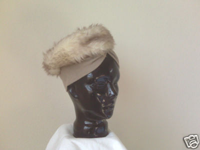 Fur (simulated) scarf hat