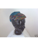 Feather Cap With Blue Felt And Netting - $15.00