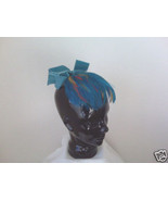 Feather Hat (multi-colored) with Velvet Bow - $10.00