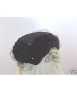 Velvet Scalloped Skull Cap with Netting - $10.00