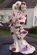 1956 oriental asian porcelain figurine Geo Z Lefton 8 3/4 in tall Beautiful - $34.65