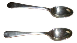 Pair of vintage silverplate sugar spoons VGU - $13.99