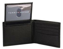 NEW TOMMY HILFIGER MEN'S LEATHER CREDIT CARD ID WALLET BILLFOLD BLACK 31TL22X034 image 5