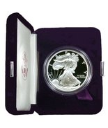 1998 Proof American Eagle Silver Dollar with Original Packaging & Certif... - $1.550,50 MXN
