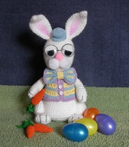 CROCHET PATTERN - Grandpa Easter Bunny, rabbit, stuffed animal, amigurumi  - $4.99