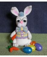 CROCHET PATTERN - Grandpa Easter Bunny, rabbit, stuffed animal, amigurumi  - $4.99