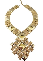 Monet AD PIECE Modernist Runway Couture Necklace, 1973 - €169,44 EUR