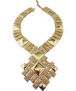 Monet AD PIECE Modernist Runway Couture Necklac... - $200.00