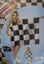 Rasta Imposta Checker Flag Finish Line Dress Fits Sz 4-10 NIP - $40.58
