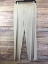 Helmut Lang NY Womens 30 x30 Wool Stretch Beige Career Dress Pants Wide ... - $48.72