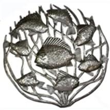 """Metal Wall Art - Fish In Coral - 24"""" Diameter -... - $85.00"""