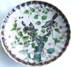 Vintage Asian Pottery Plate with Birds & Gingko  - £16.97 GBP