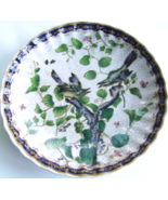 Vintage Asian Pottery Plate with Birds & Gingko  - £17.81 GBP