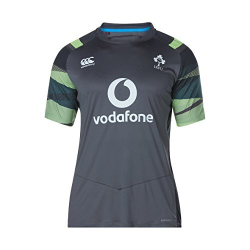 Canterbury 2017-2018 Ireland Rugby Vapordri Poly Graphic Tee (Asphalt)