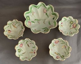 Antique Handpainted Nut Bowl with Nut Cups - $4.00