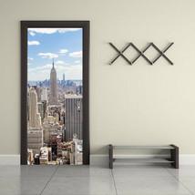 Door Sticker New 3D DIY PVC Waterproof  Door Wall Mural New York qd025 - $20.91