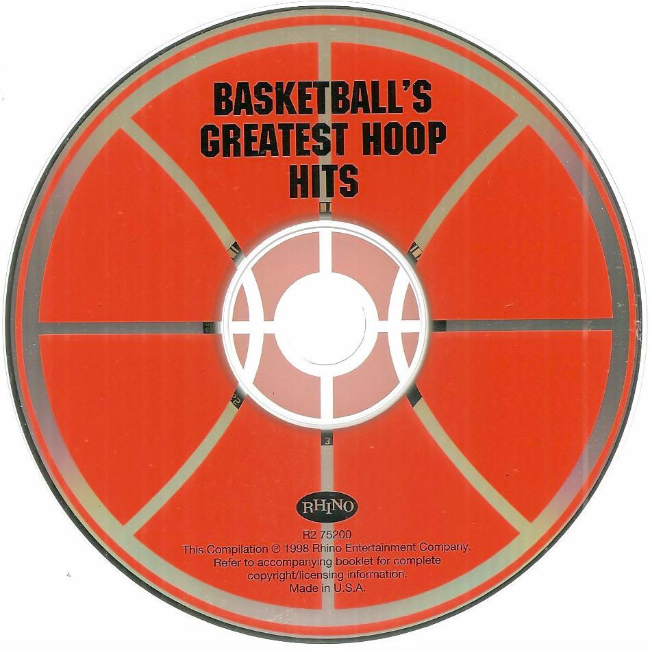 Basketball Greatest Hoop Hits Rhino CD Kurtis Blow Globetrotters Cheech & Chong