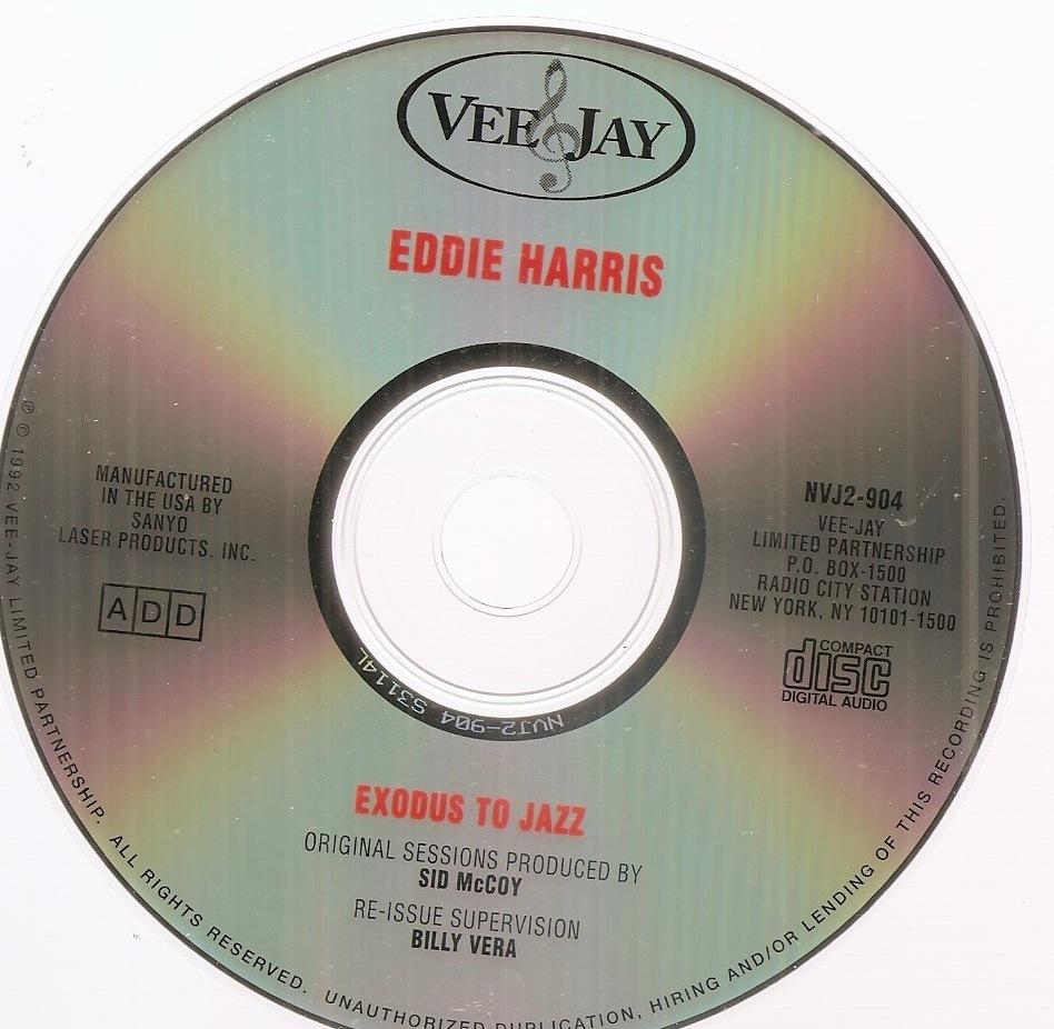 Exodus to Jazz Eddie Harris CD tenor sax Vee Jay Willie Pickens Chicago soul R&B