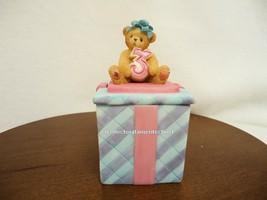 Cherished Teddies Covered Box Birthday Age 3 NIB - $24.70