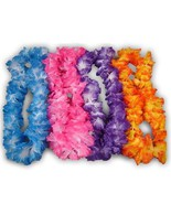 Hawaiian Necklace Leis (36) Lei Flower Decorations Crafts Silk Like Luau Party - $13.00