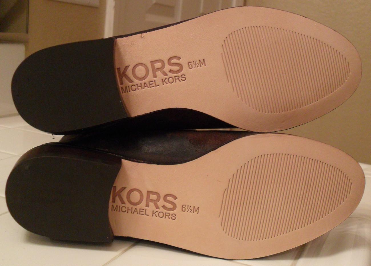 NEW KORS MICHAEL KORS Val Dark Brown Waxy Suede Boots 6.5 (MAKE AN OFFER)