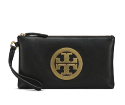 Tory Burch Charlie Clutch Bag for Women Black Color Free Gift Free Shipping - $169.00