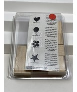 Stampin' Up! Two-Step MINI MESSAGES Wood Mounted Rubber Stamp Set of 8 New - $14.84
