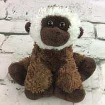 Aurora Monkey Plush Brown White Capuchin Chimp Ape Stuffed Animal Soft Toy  - $11.88