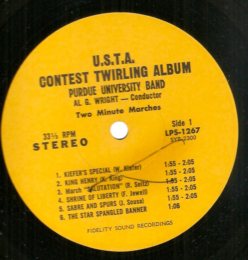 Purdue University Marching Band USTA Baton Twirling Album LP U.S.T.A. cheesecake