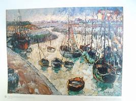 16x20 Russian Print   Harbor Scene   Mieczyslaw Rakowski - $38.21
