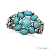 W2492 magnesite and crystal stretch fashion bracelet thumb200