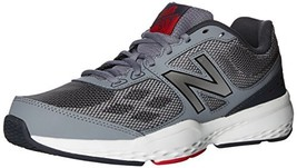 Balance Men's MX517v1 Training Shoe, Grey/Red, 8 4E US - $48.81