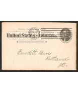 U.S. POSTAL CARD 1c JEFFERSON SMALL WREATH 1894 ADVERTISING CARD - $6.55 CAD