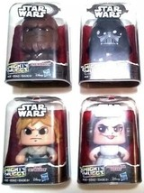 LOT of 4 Mighty Muggs Star Wars Hasbro New Push n Turn 3 Faces - $34.29