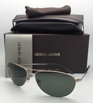 Nuevo Giorgio Armani Gafas de Sol Ar 6024 3004/31 Mate Dorado Aviador Mo... - $250.71
