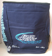 Bud Light Living Insulated Zippered Cooler Backpack Bag Holds 24 Cans Bu... - $23.05