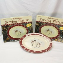 "Royal Seasons Snowman Platters 14"" - $29.39"
