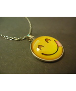 SMILE CABOCHON NECKLACE   #  9287     COMBINED SHIPPING - $4.75