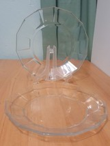 Lot 2 replacement Vitrosax Italy Bormioli Clear Glass Salad plate Bowl 7... - $14.93