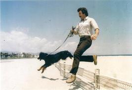 Tom Selleck w/ Dog on the Beach Candid 8x10 Photo 8X-459 #4 - $14.84
