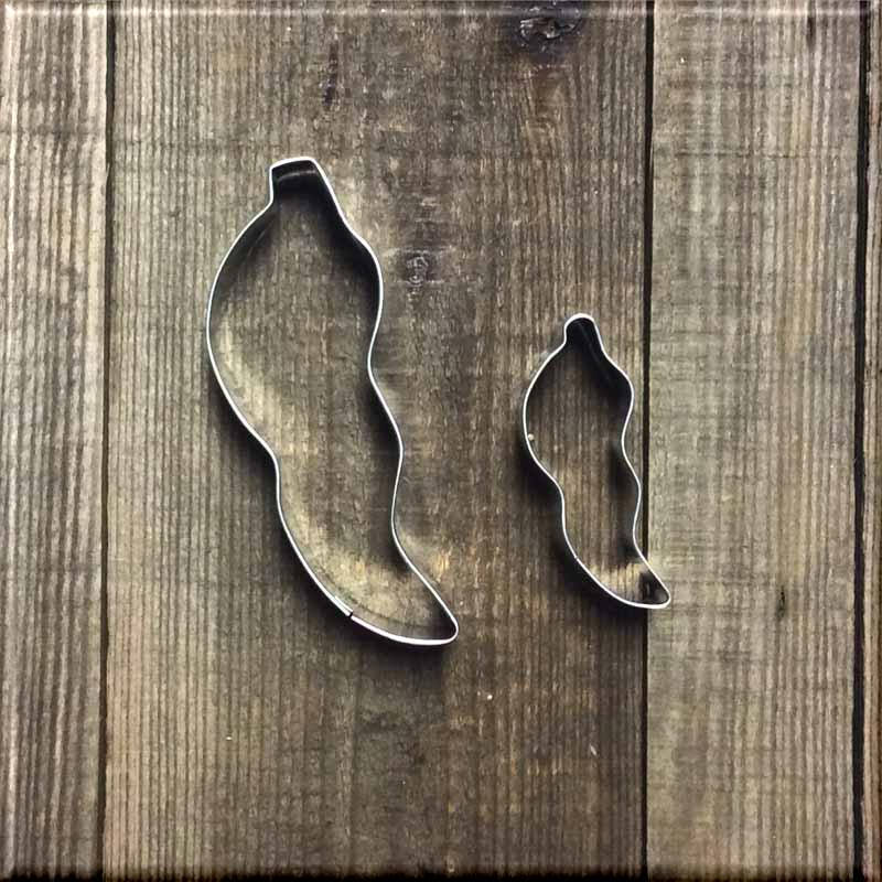 Set of 2 Chili Pepper Metal Cookie Cutters #NAWK105