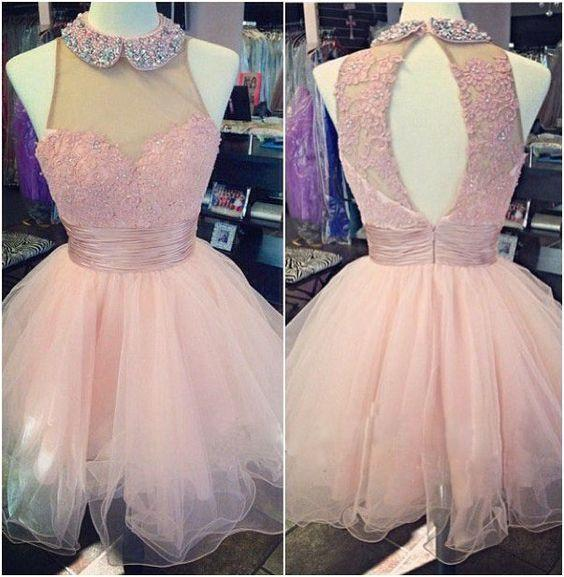 pink Homecoming dress,short prom Dresses,cute Prom Dresses,homecoming dresses