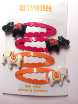 Gymboree Batik Summer Line Barrette/Clip NWT Black Hippo Snap Orange Elephant - $22.95