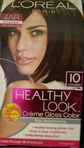 Loreal Healthy Look Creme Gloss Color 4AR Cool Chestnut Brown Iced Chocolate - $16.60